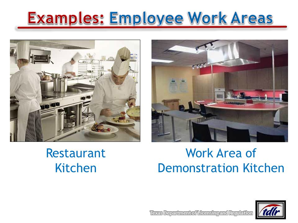 Examples: Employee Work Areas