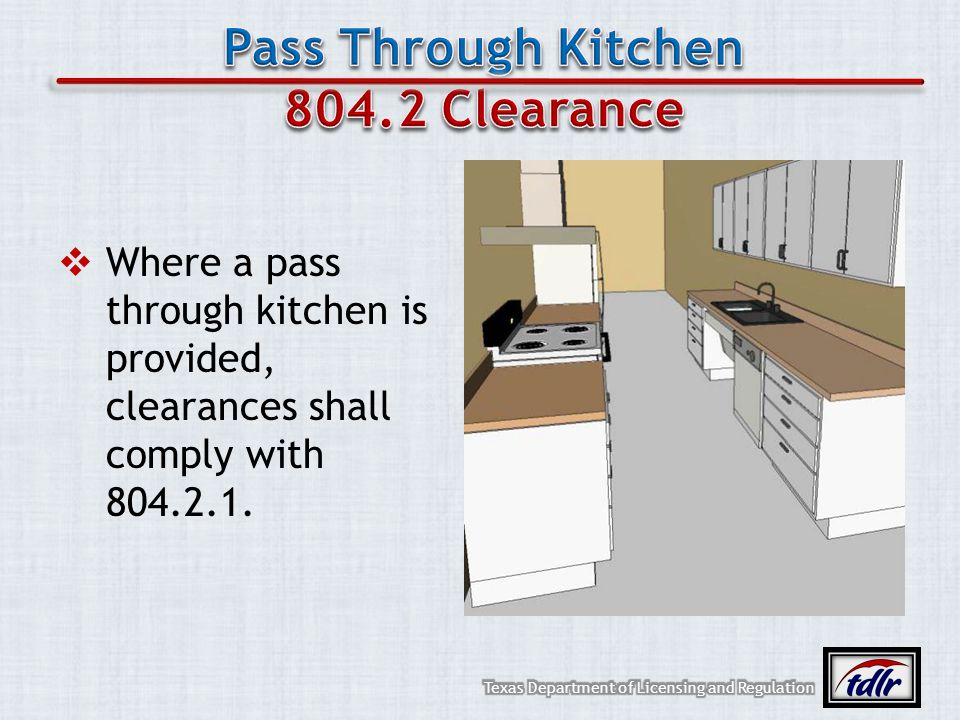 Pass Through Kitchen 804.2 Clearance