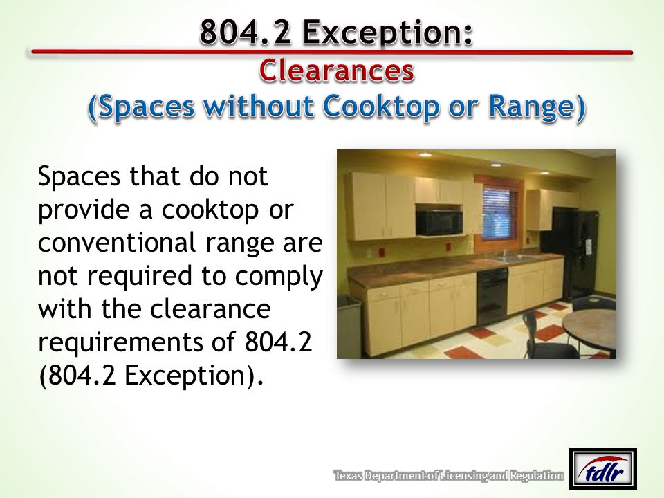 (Spaces without Cooktop or Range)