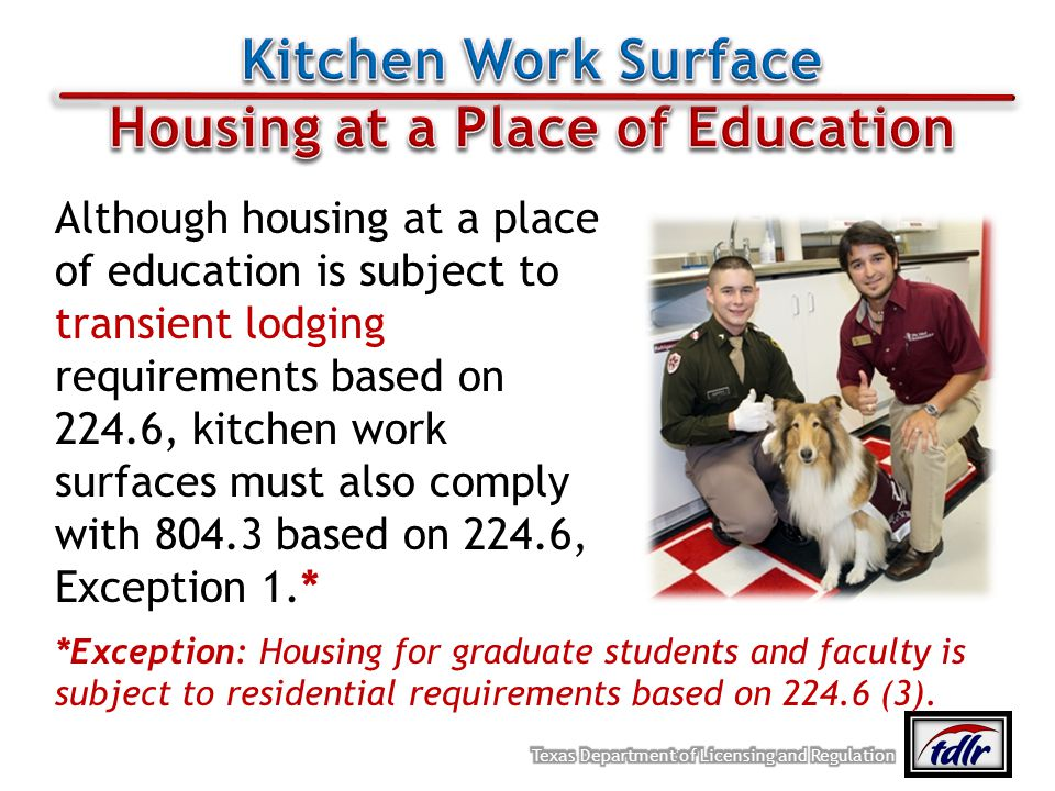 Housing at a Place of Education