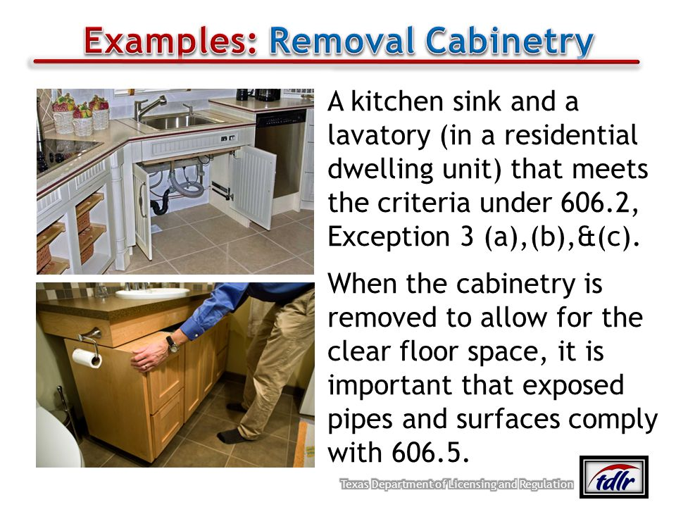 Examples: Removal Cabinetry
