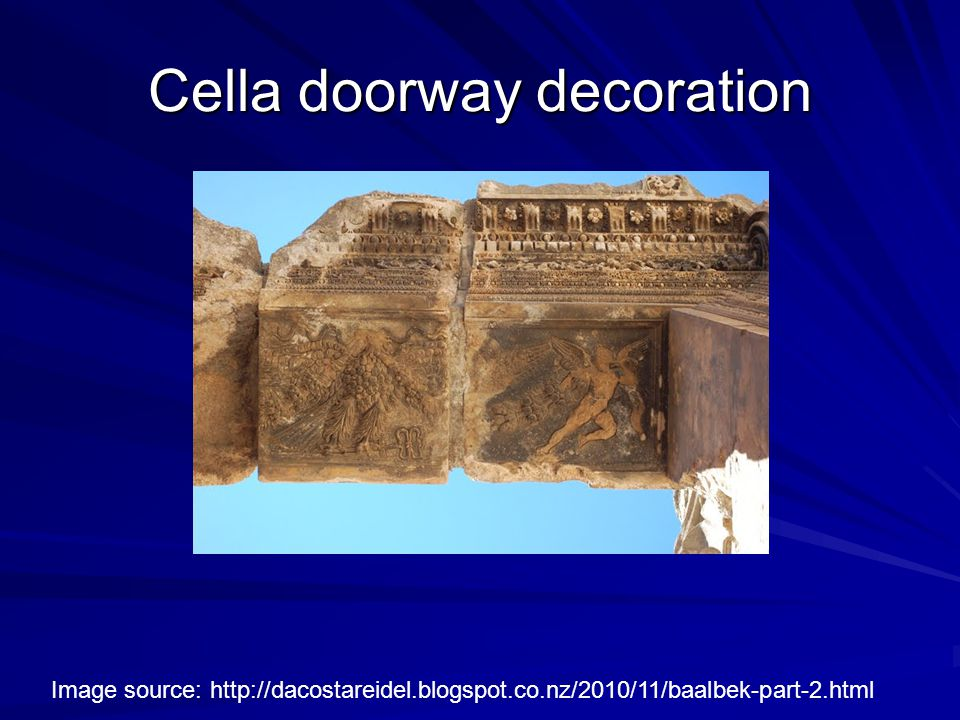 Cella doorway decoration