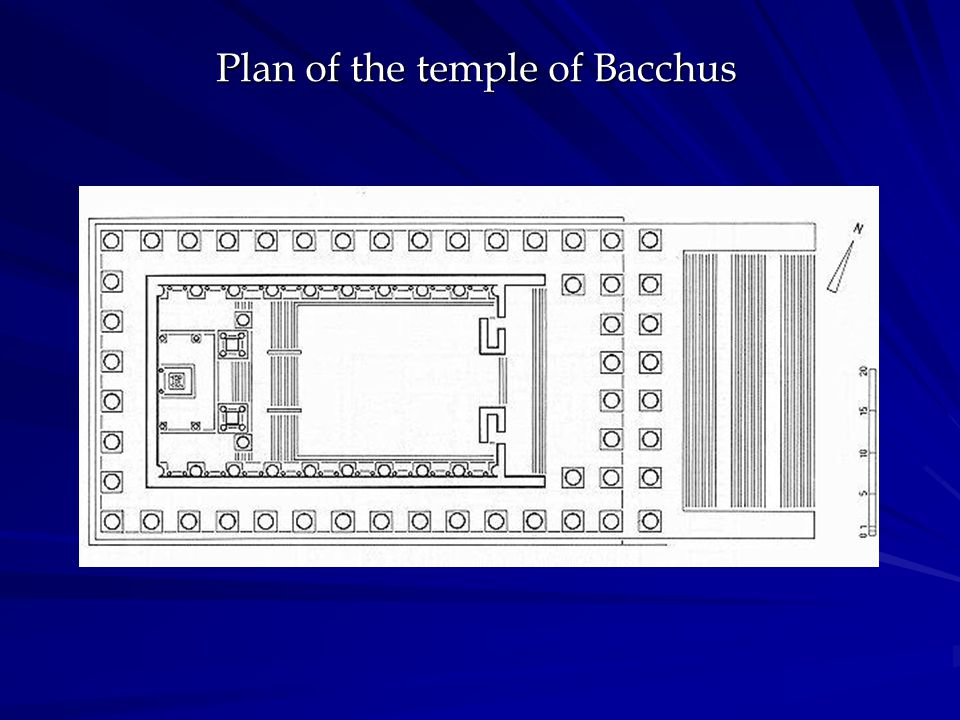 Plan of the temple of Bacchus