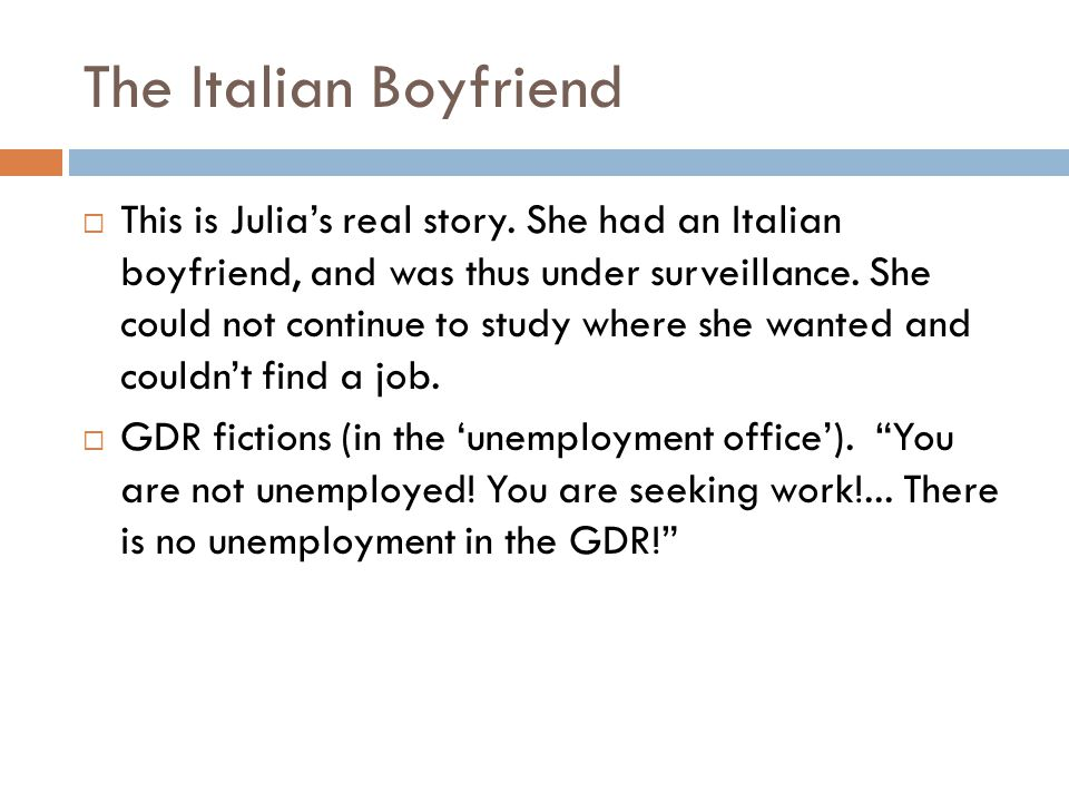 The Italian Boyfriend
