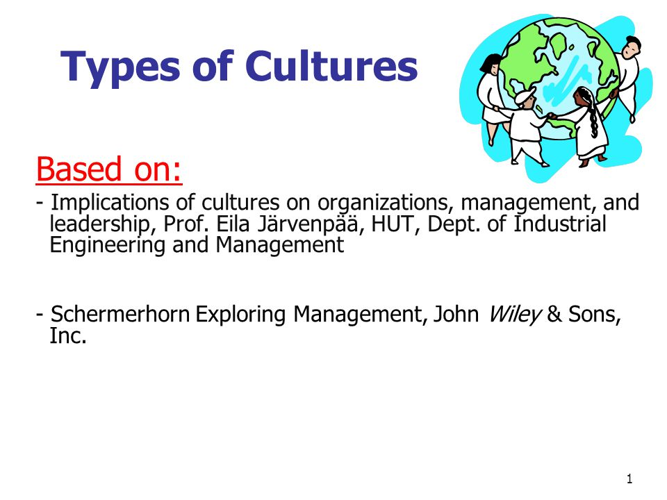 Types of Cultures Based on: