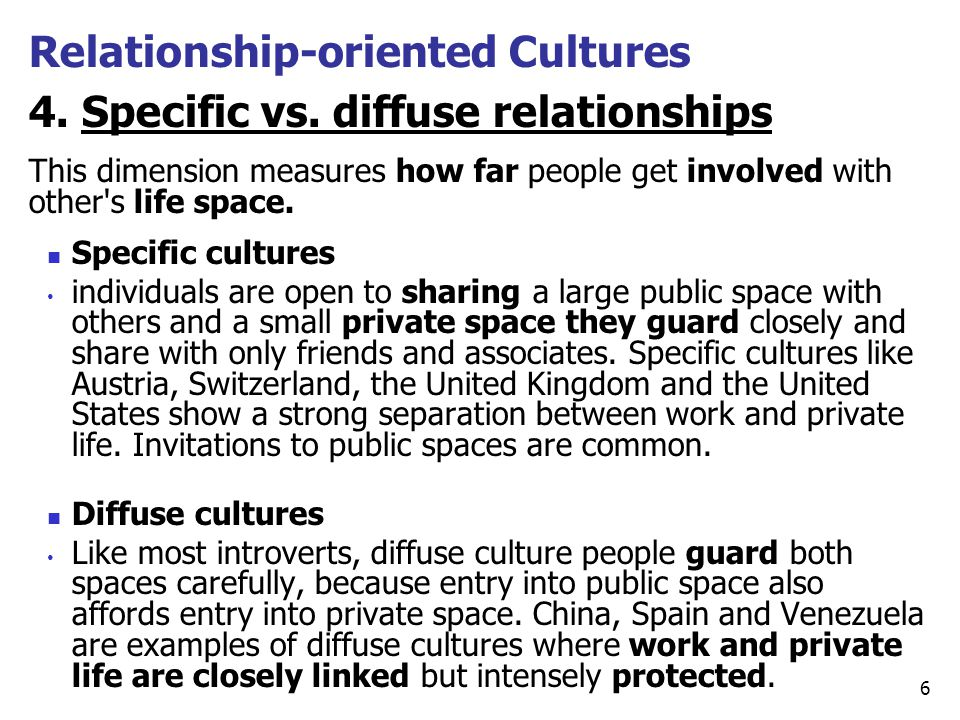 relationship oriented cultures in america