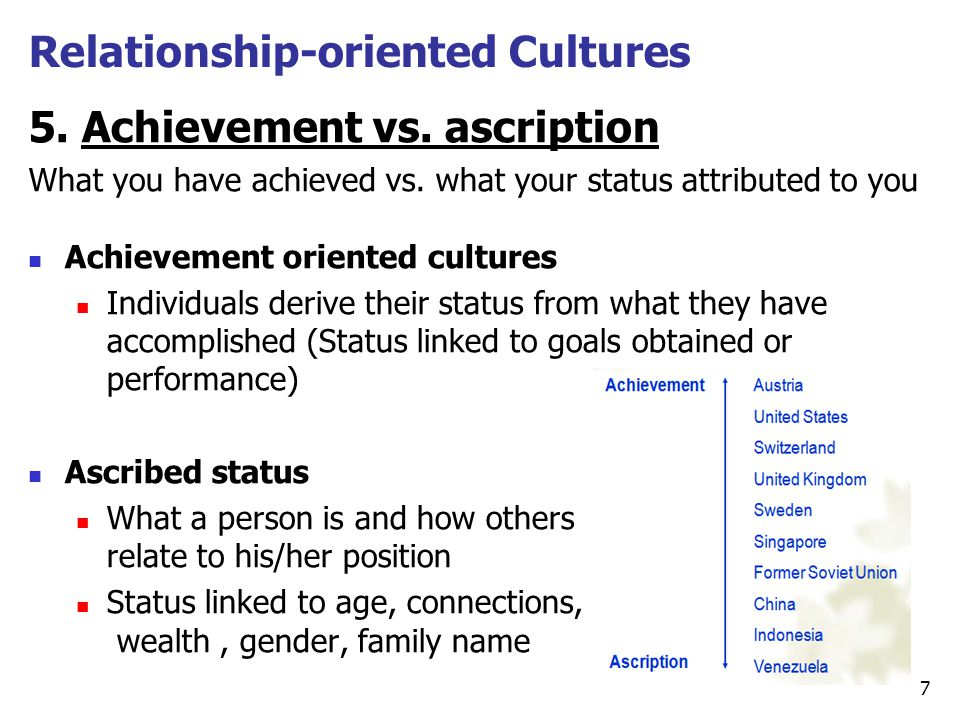 Relationship-oriented Cultures