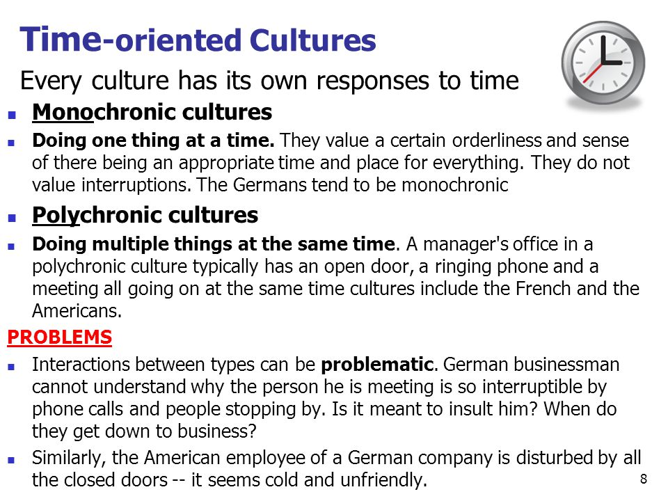 Time-oriented Cultures