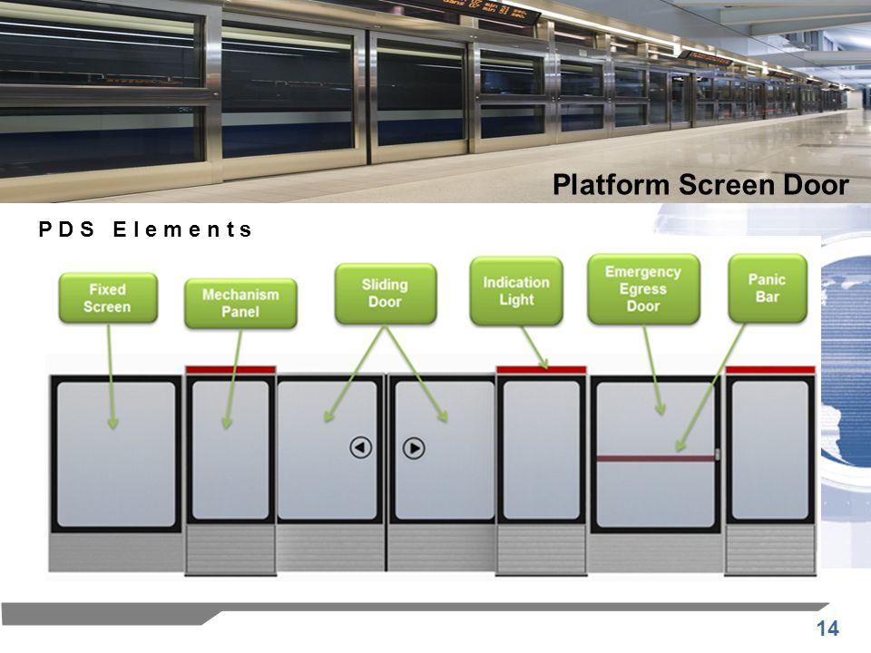 Platform Screen Door P D S E l e m e n t s