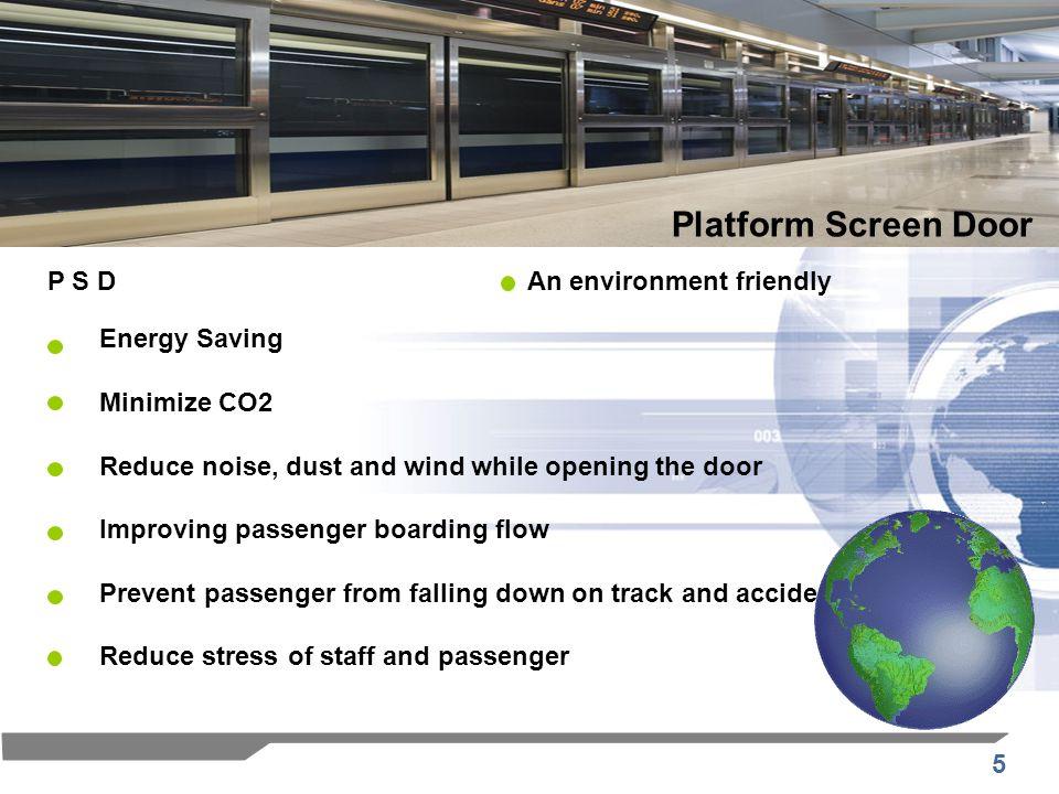 Platform Screen Door P S D An environment friendly