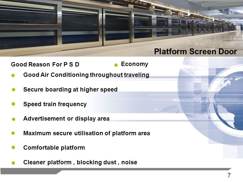 Platform Screen Door Good Reason For P S D Economy