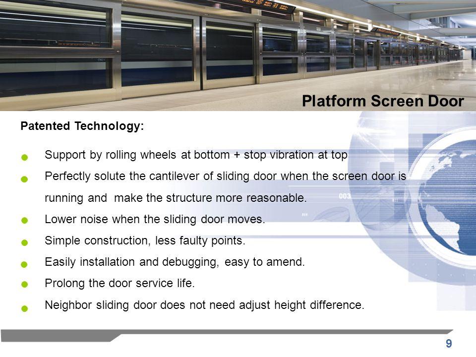 Platform Screen Door Patented Technology: