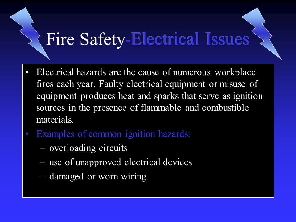 Fire Safety-Electrical Issues