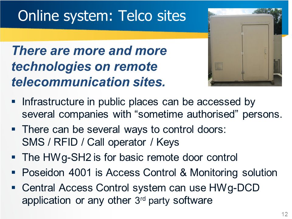 Online system: Telco sites