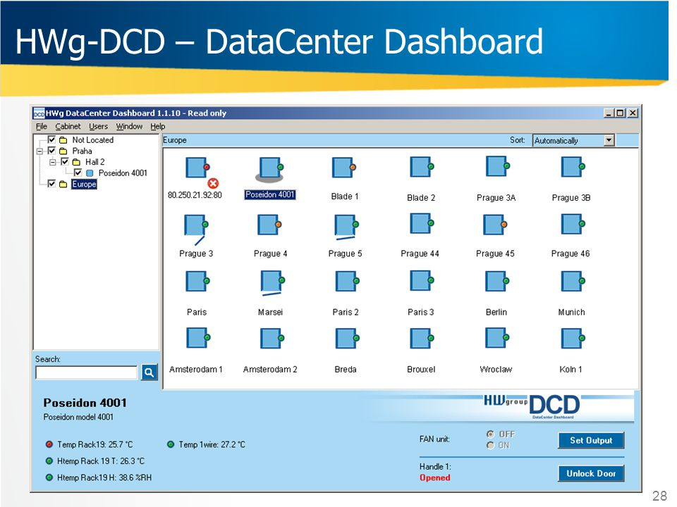 HWg-DCD – DataCenter Dashboard