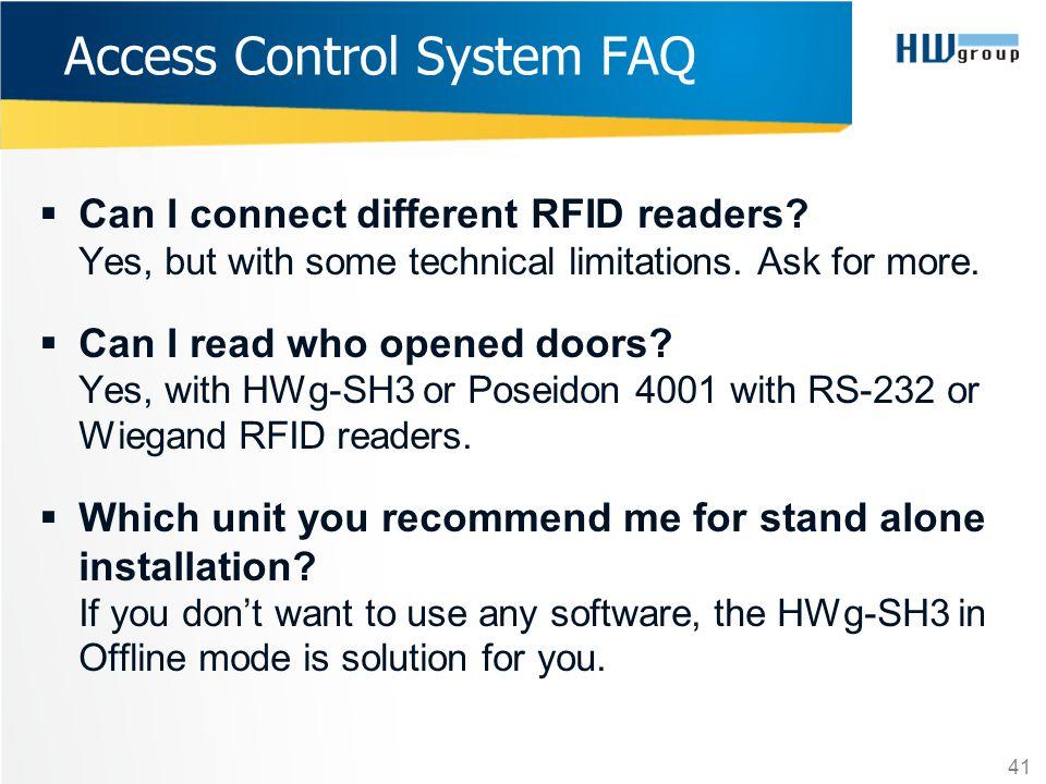 Access Control System FAQ