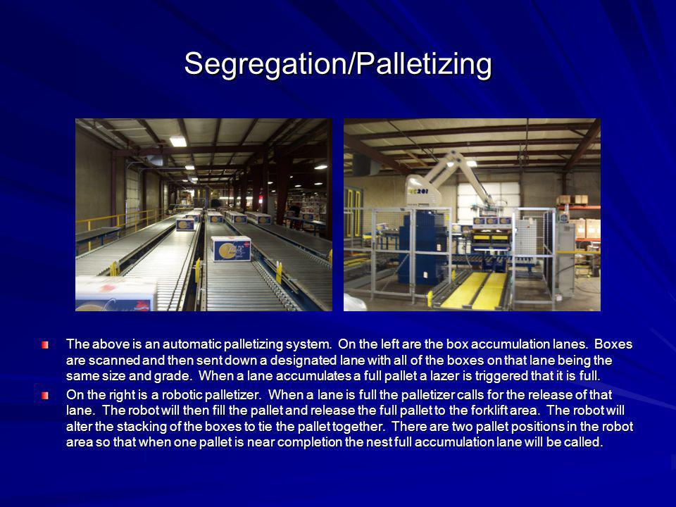 Segregation/Palletizing