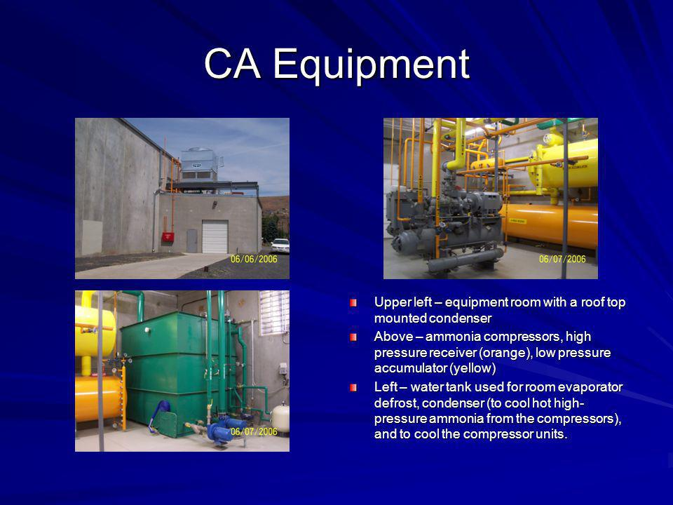 CA Equipment Upper left – equipment room with a roof top mounted condenser.