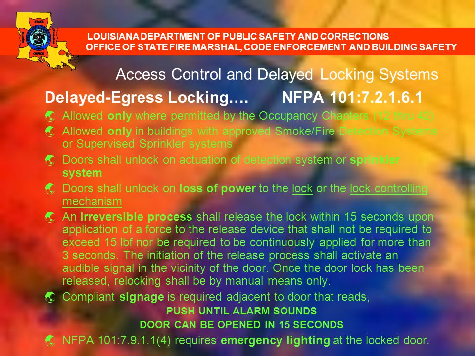 Access Control and Delayed Locking Systems