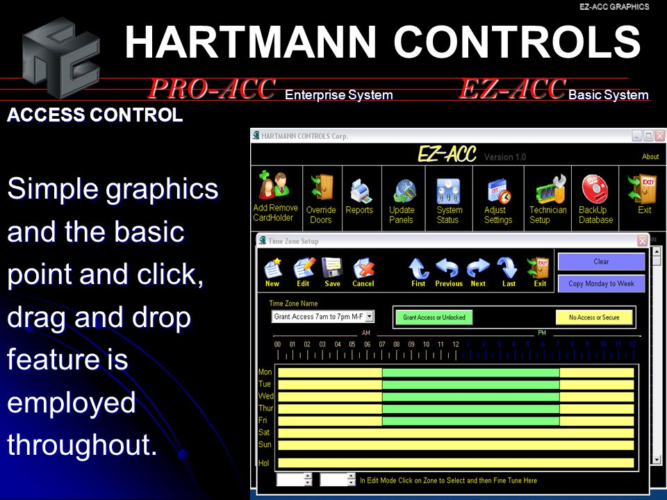 HARTMANN CONTROLS PRO-ACC EZ-ACC Simple graphics and the basic