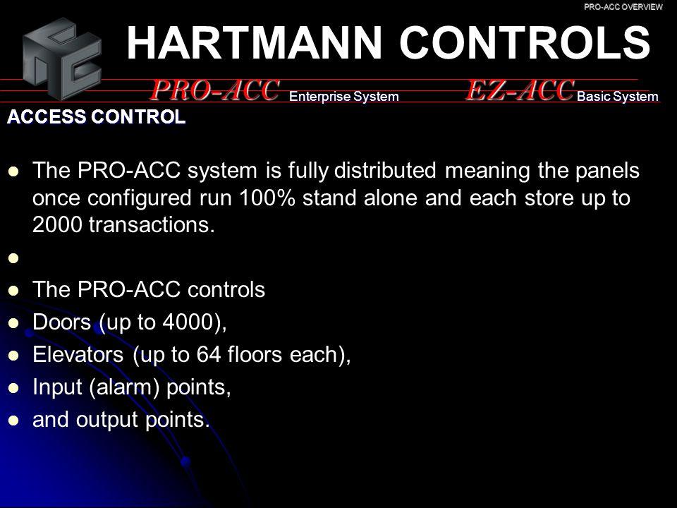HARTMANN CONTROLS PRO-ACC EZ-ACC