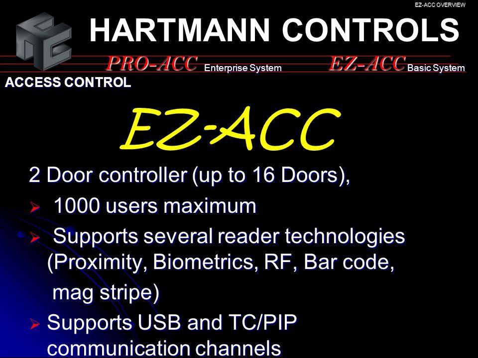 EZ-ACC HARTMANN CONTROLS PRO-ACC EZ-ACC