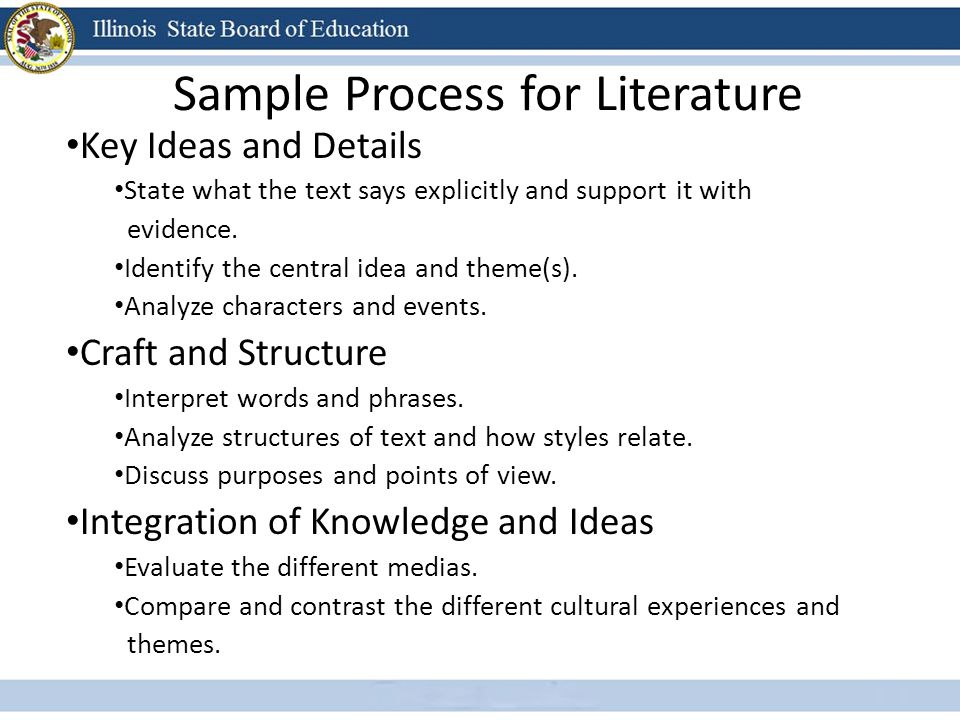 Sample Process for Literature