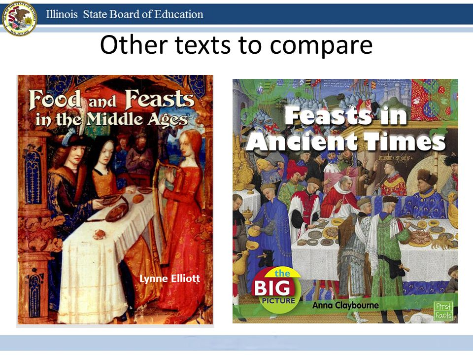 Other texts to compare Lynne Elliott