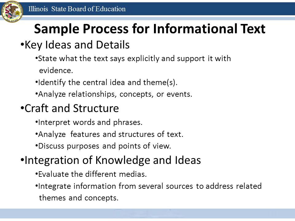 Sample Process for Informational Text