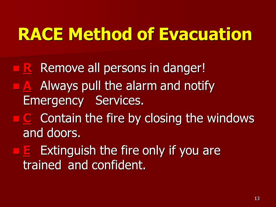 RACE Method of Evacuation
