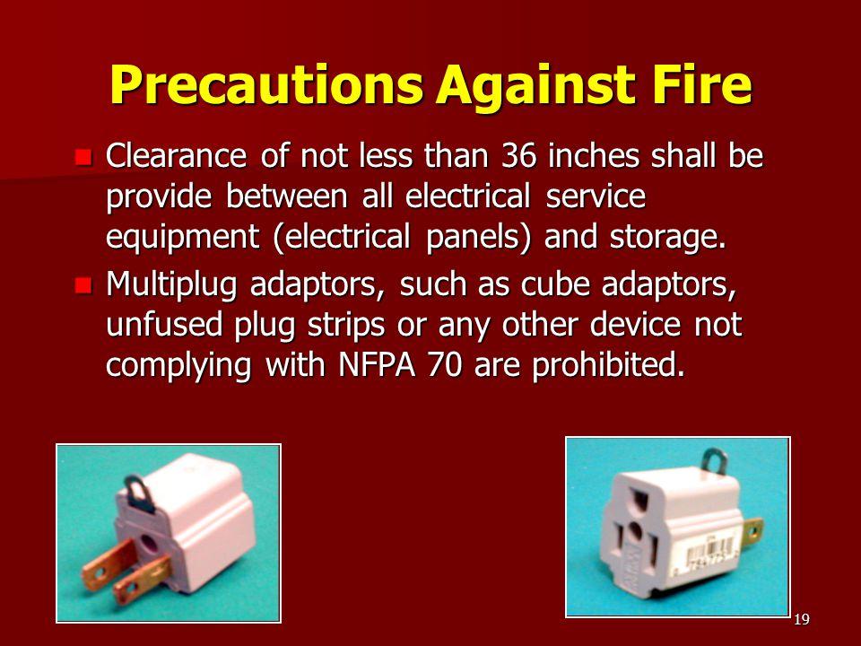 Precautions Against Fire