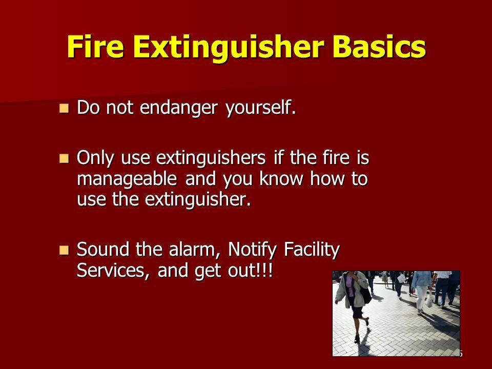 Fire Extinguisher Basics