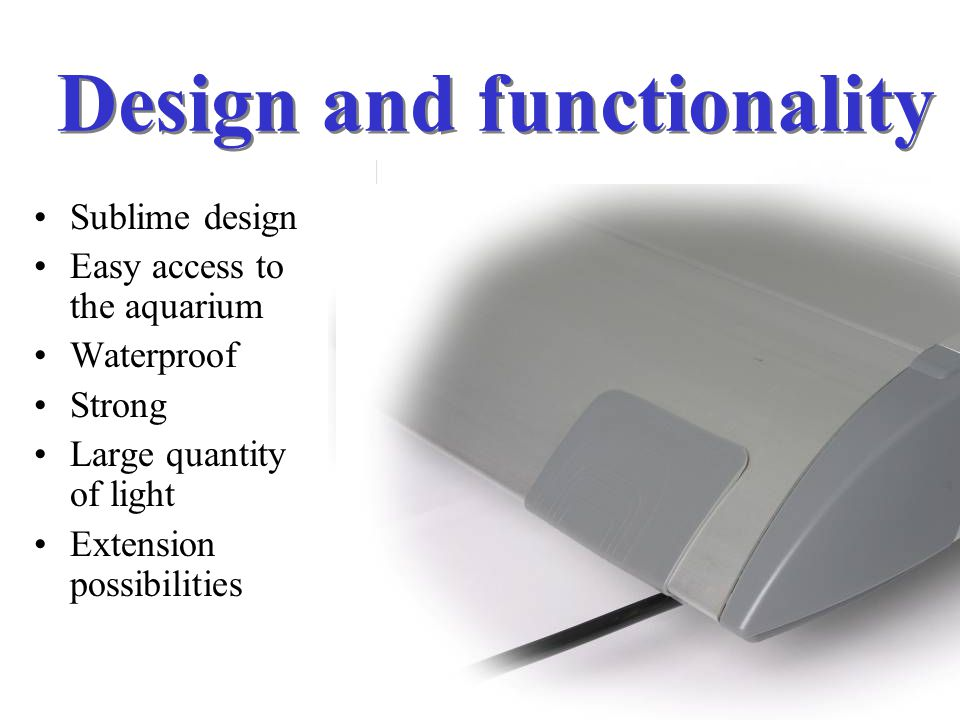 Design and functionality