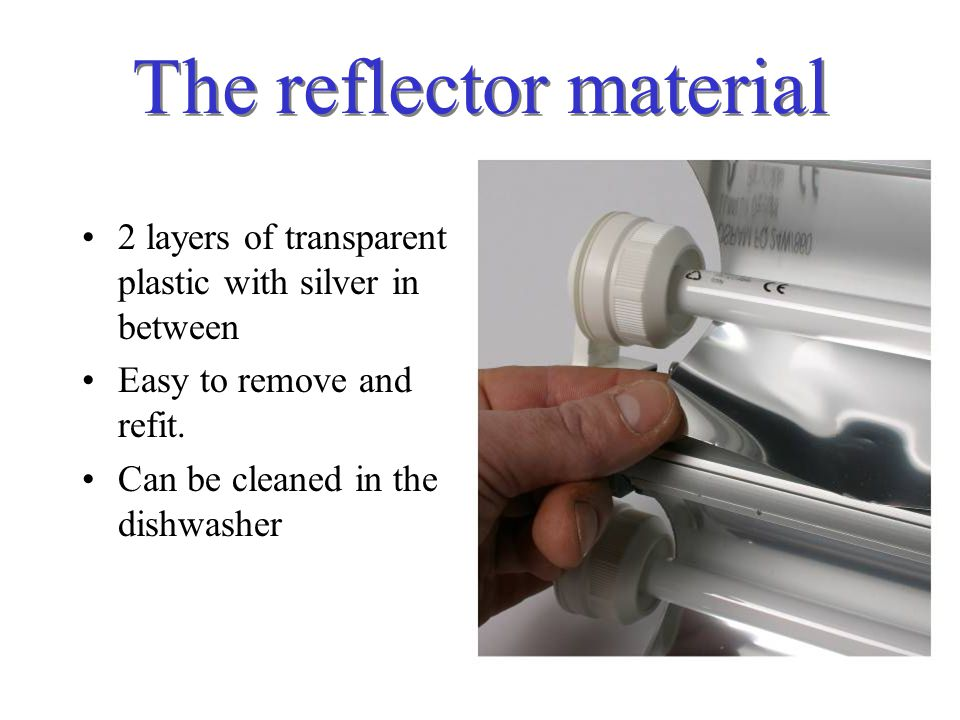 The reflector material
