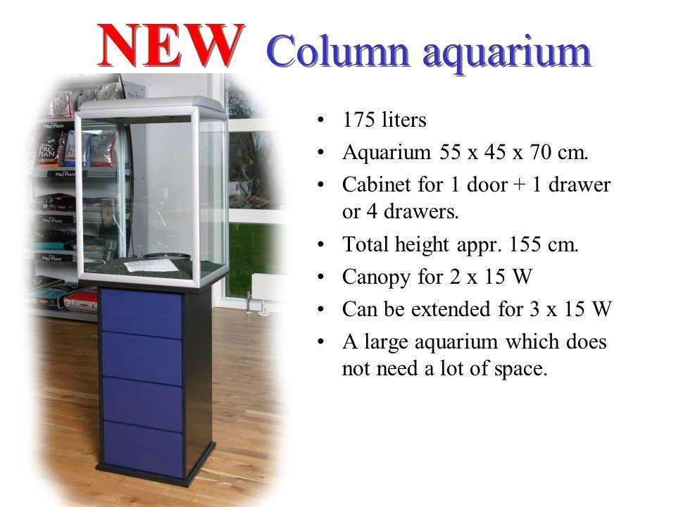 NEW Column aquarium 175 liters Aquarium 55 x 45 x 70 cm.