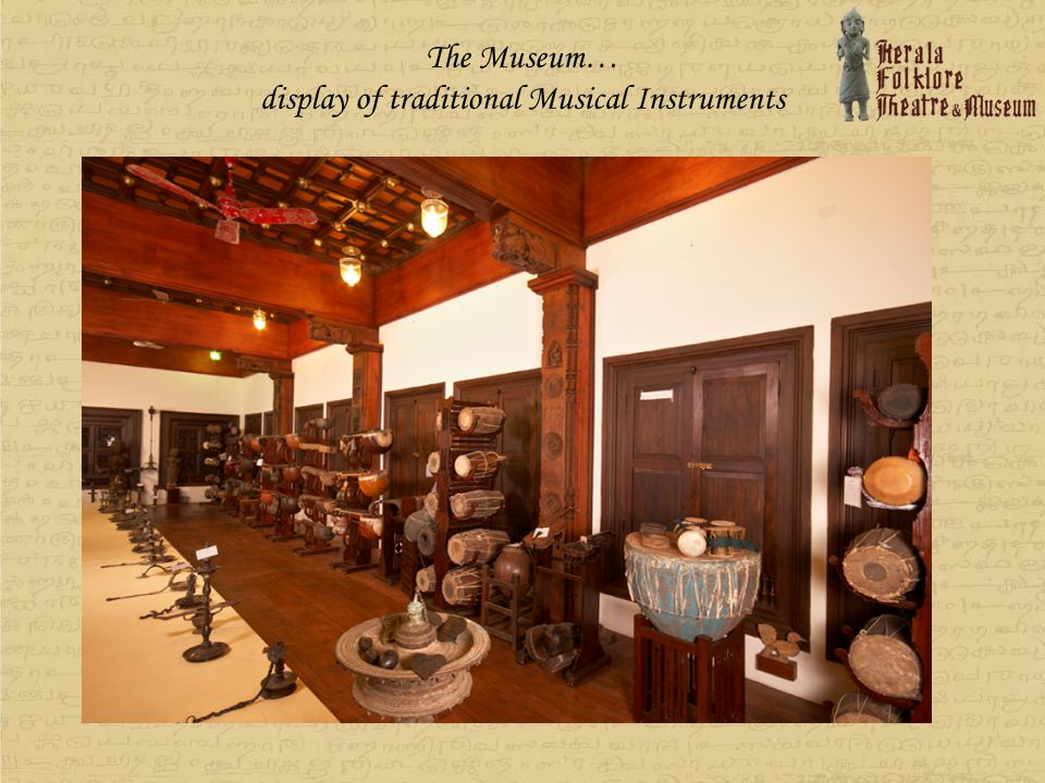 display of traditional Musical Instruments