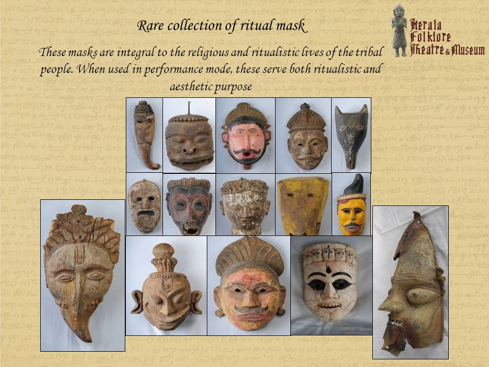 Rare collection of ritual mask