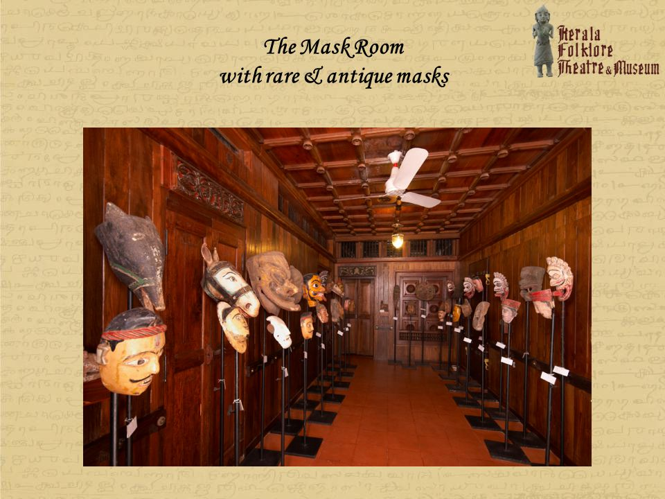 The Mask Room with rare & antique masks