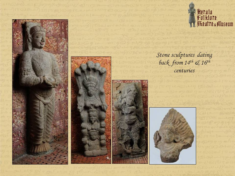 Stone sculptures dating back from 14th & 16th centuries