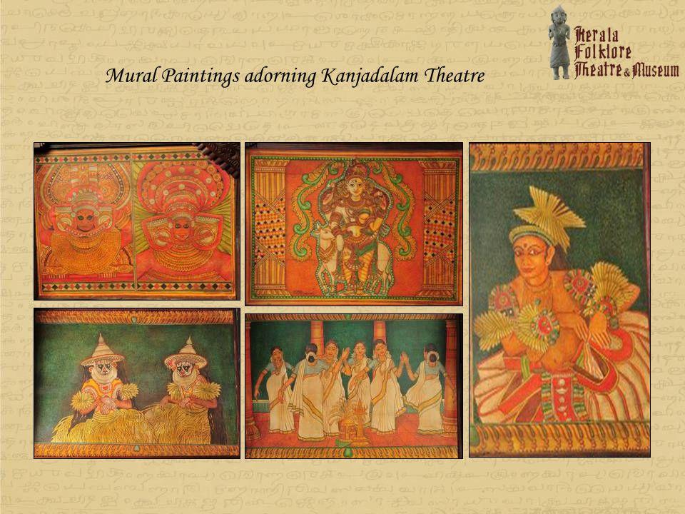 Mural Paintings adorning Kanjadalam Theatre