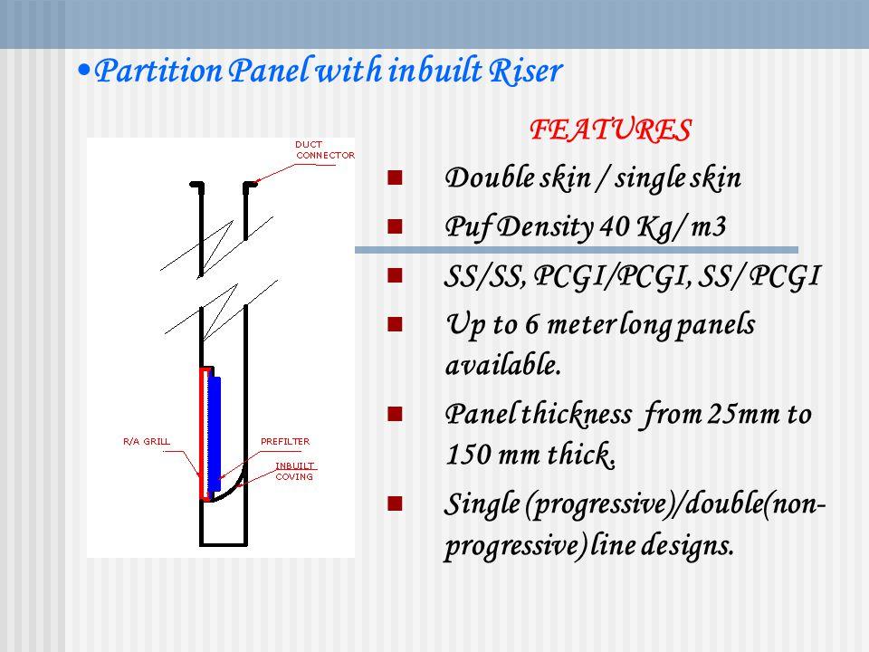 Partition Panel with inbuilt Riser
