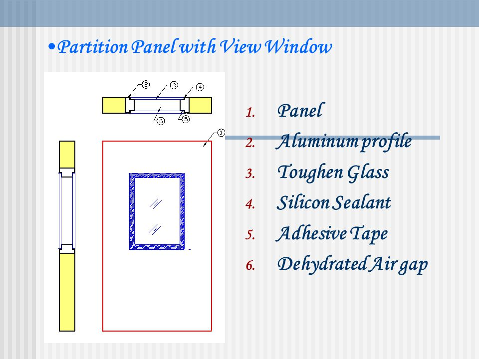 Partition Panel with View Window