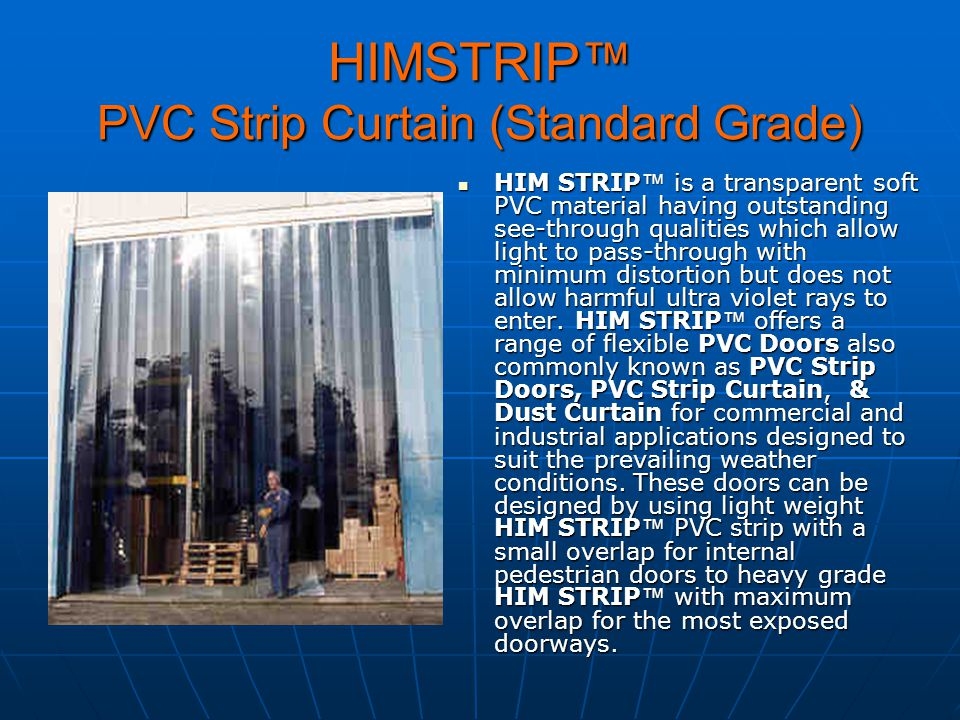 HIMSTRIP™ PVC Strip Curtain (Standard Grade)