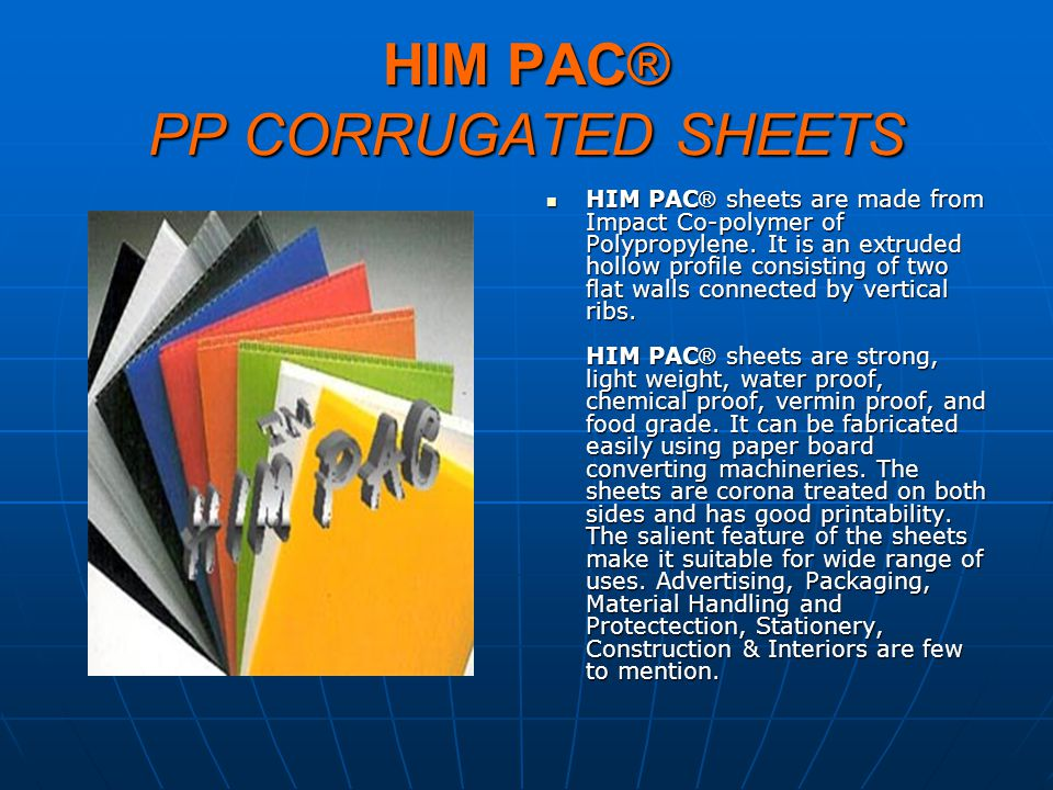 HIM PAC® PP CORRUGATED SHEETS