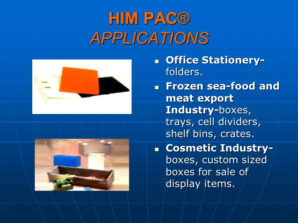 HIM PAC® APPLICATIONS Office Stationery-folders.