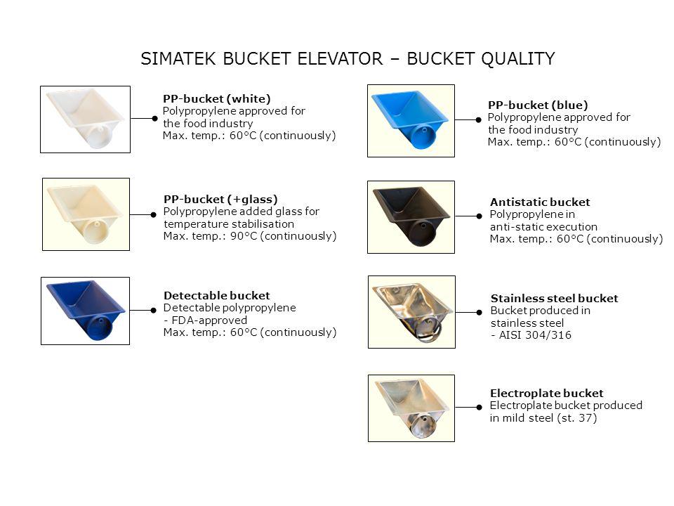 SIMATEK BUCKET ELEVATOR – BUCKET QUALITY