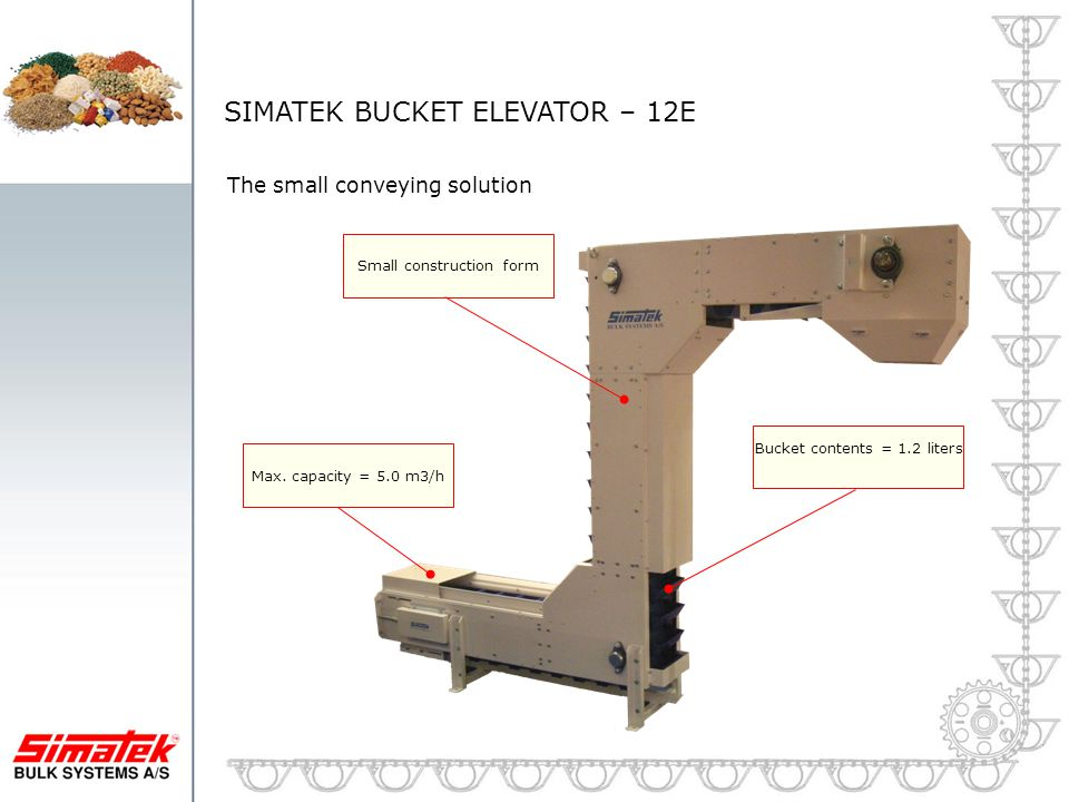 SIMATEK BUCKET ELEVATOR – 12E
