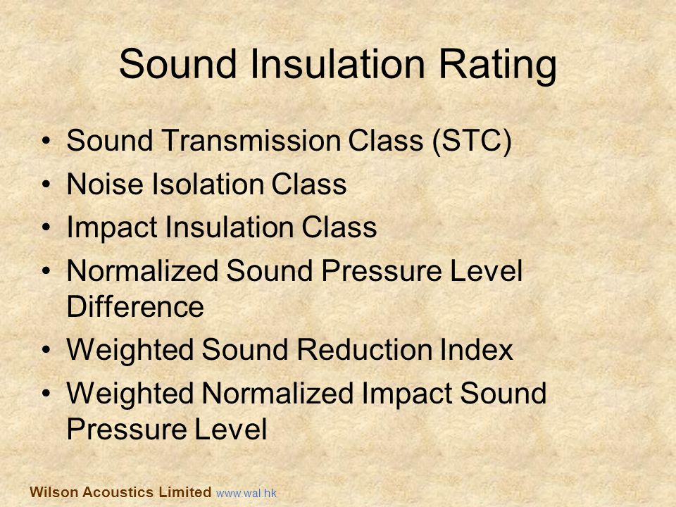 Sound Insulation Rating