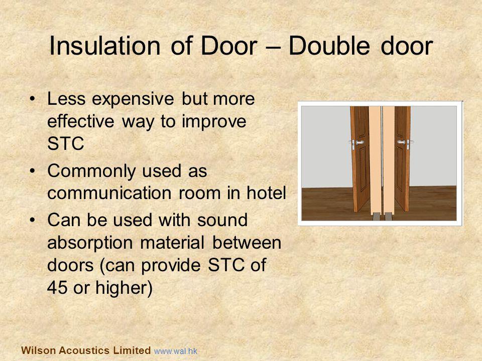 Insulation of Door – Double door