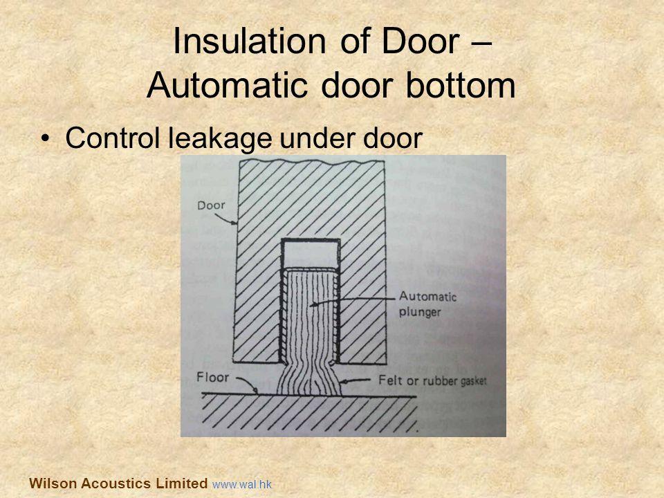 Insulation of Door – Automatic door bottom